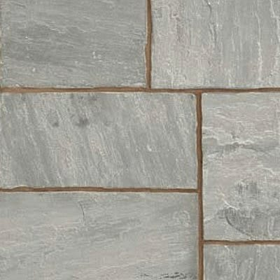 Indian Sandstone paving Grey Multi