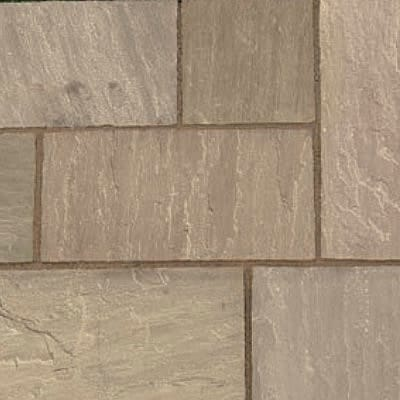 Indian sandstone paving brown multi