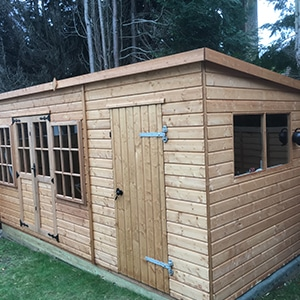 Summerhouse and shed in one